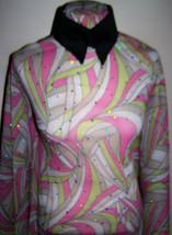 Hologram Sequin Dot Swirly Print Lycra Stretch Triple Mesh Fabric 1 Yard 18 Inch - $36.00
