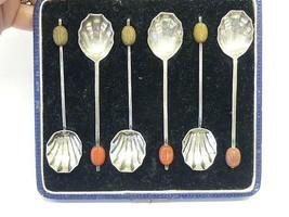 6 Marson & Jones Art Deco Shell Seashell Sterling Silver Demi Spoon Box ... - $69.29