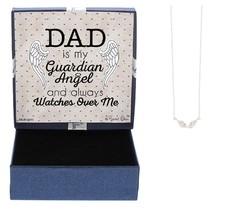 Guardian Angel Wings Memorial Gift Silver-Tone Guardian Angel Wings Neck... - $25.22