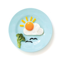 Egg Shape New Original Design Red Silicon Kids Breakfast Decors Workart ... - $17.19 CAD