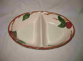 "Neat Vintage 11"" X 7"" FRANCISCAN WARE Oval Divided Vegetable Dish Apple ... - $114.96"