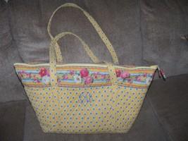 Vera Bradley Miller Bag Elizabeth Pattern W/Embroidered Initials - £42.80 GBP