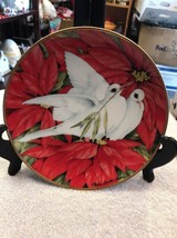 Christmas Doves Plate Maureen Drdak Jensen American Lung 1991 Franklin Mint - $18.75