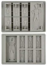 Ice Cube Tray: Star Wars Han Solo in Carbonite Gray Silicon Brand NEW! - $17.99