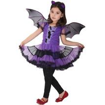 Halloween Cape Cloak Costumes Bat Girl Costume Children Cosplay Dance Dress - $18.99