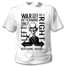 BERTRAND RUSSELL WAR QUOTE - NEW COTTON WHITE TSHIRT - $23.16