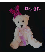 Wax Dipped Plush Baby Girl Bear Flameless Scented Air Freshener  - $22.00