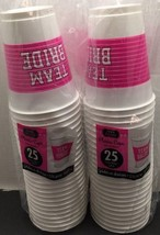 Team Bride 16oz Plastic Cups Special Twin Pack 50 Cups Free Shipping - $9.50