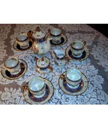 Lusterware Tea Set Seyei Fine China SEY34 Japan 17 Piece Rare Ornate Iri... - $399.00