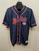 Boston Red Sox Dynasty Series Blue Red MLB Baseball Jersey Men's Size XL - $70.00