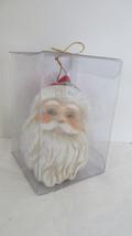 Christmas Ceramic Santa Claus Light-Up Head Ornament #1 - $9.49
