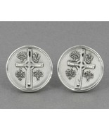 "Vintage Signed THEDA Sterling Silver ""I Am A Presbyterian"" Cross Cufflinks - $24.95"