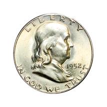 1952 S Franklin Half Dollar - Gem BU / MS / UNC - $79.45