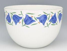 """Vintage Arabia Finland Blue Bell Enamelware 8 3/8"""" Mixing Bowl MINT, Unused image 3"""
