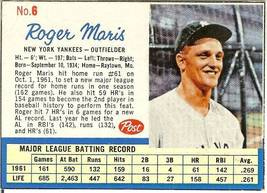 1962 roger maris post cereal new york yankees - $35.99