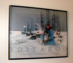 "Signed 1986 Jon Van ZylePrint, ""Iditarod, Dedicated to All Women Mushers - $29.99"