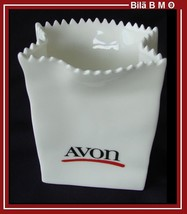 AVON - 1986 REPRESENTATIVES EXCLUSIVE White Ceramic Bag - Free Shipping - $25.00