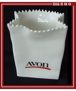 AVON - 1986 REPRESENTATIVES EXCLUSIVE White Ceramic Bag - Free Shipping - $25.00