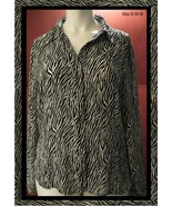 Black and White Animal Print Ladies SHIRT - XL - FREE SHIPPING - $25.00