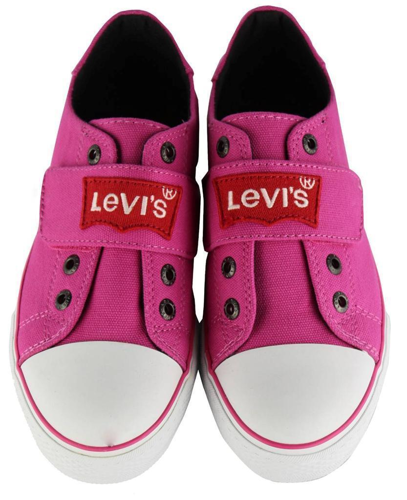NEW LEVI'S GIRL'S CLASSIC PREMIUM LACE UP CANVAS SNEAKER SHOES PINK 545352-03F