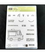 Stampin Up! TASTY TRUCKS Stamp Set Taco Food Hot Dog Birthday Ice Cream ... - $14.88