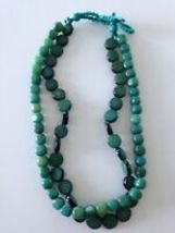 double strand beaded necklace - $24.99