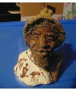 Ugly Clay Man Some Kind of Symbols in Front on  Scarf- - $3.99