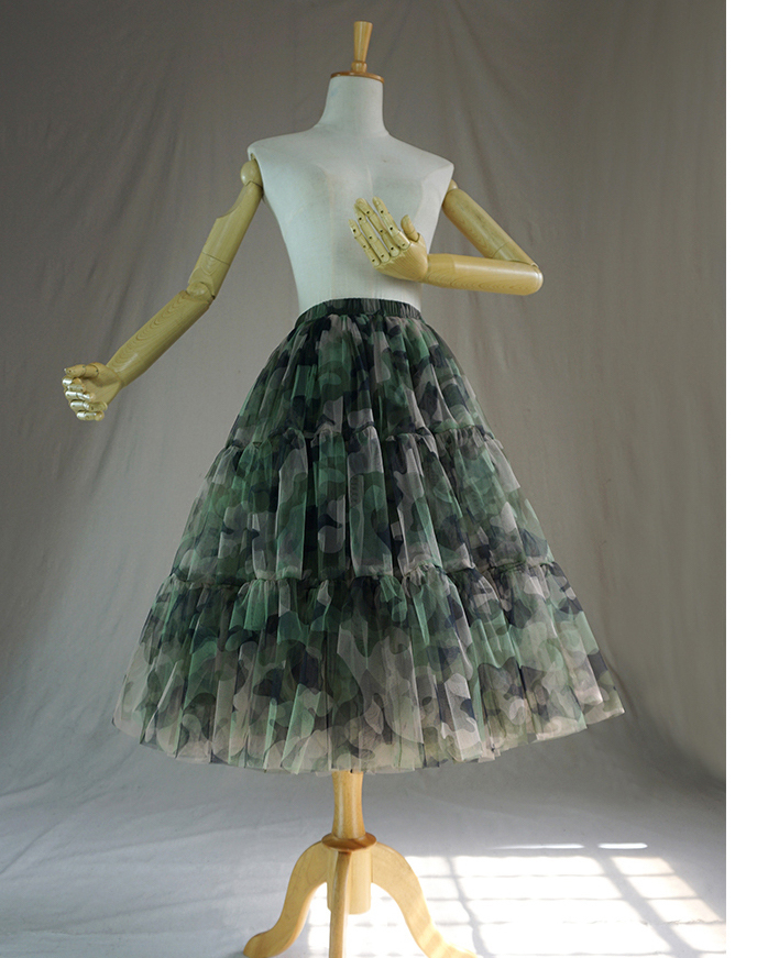 Army green tulle skirt 4