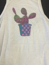 Women OBEY Lavender Ribbed Sleeveless Tank Top Wife Beater Size XS USA Made image 2