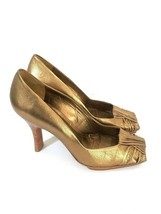 Via Spiga Bronze Open Toe Pump Heel Shoes Size 8.5 M Womens - €31,19 EUR