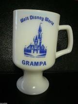 "Vintage Walt Disney World ""GRAMPA"" White Milk Glass Coffee Mug - $6.00"