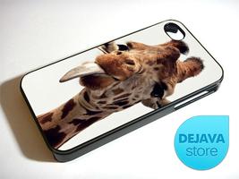 Silly Wild Giraffe Face iPhone 5S 5 4S 4 Samsung Galaxy Note 3 S4 S3 Min... - $14.85
