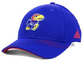 Kansas Jayhawks Adidas Adi Mm Ncaa Team Logo Cap Hat Osfm - $19.94