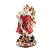 "Fitz Floyd Huge 16.5"" Santa Night Before Christmas Centerpiece Vase NIB ... - $239.99"