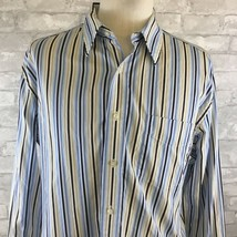 Tommy Hilfiger Mens Long Sleeve Button Down Shirt Size Large  - $18.02