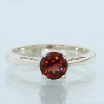 Pyrope Almandine Garnet Faceted Handmade Sterling Silver Ladies Ring size 6.5 - £64.80 GBP