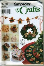 Simplicity Crafts Pattern 9788 Christmas Tree Skirt, Wreath and Oranments