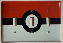 Pokemon Red Pokeball ball Light Switch Power Outlet Wall Cover Plate Home decor image 7