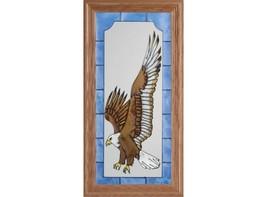 11x22 Stained Art Glass Flying EAGLE Bird Framed SUNCATCHER - $55.00