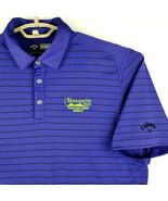 "Callaway Mens Golf/Polo Shirt ""Paralong Drive Worlds Mesquite NV""-Violet... - $14.73"
