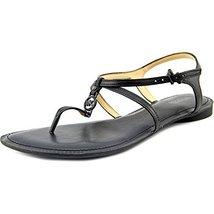 MICHAEL Michael Kors Women's Bethany Sandal Black Vachetta Sandal 5 M