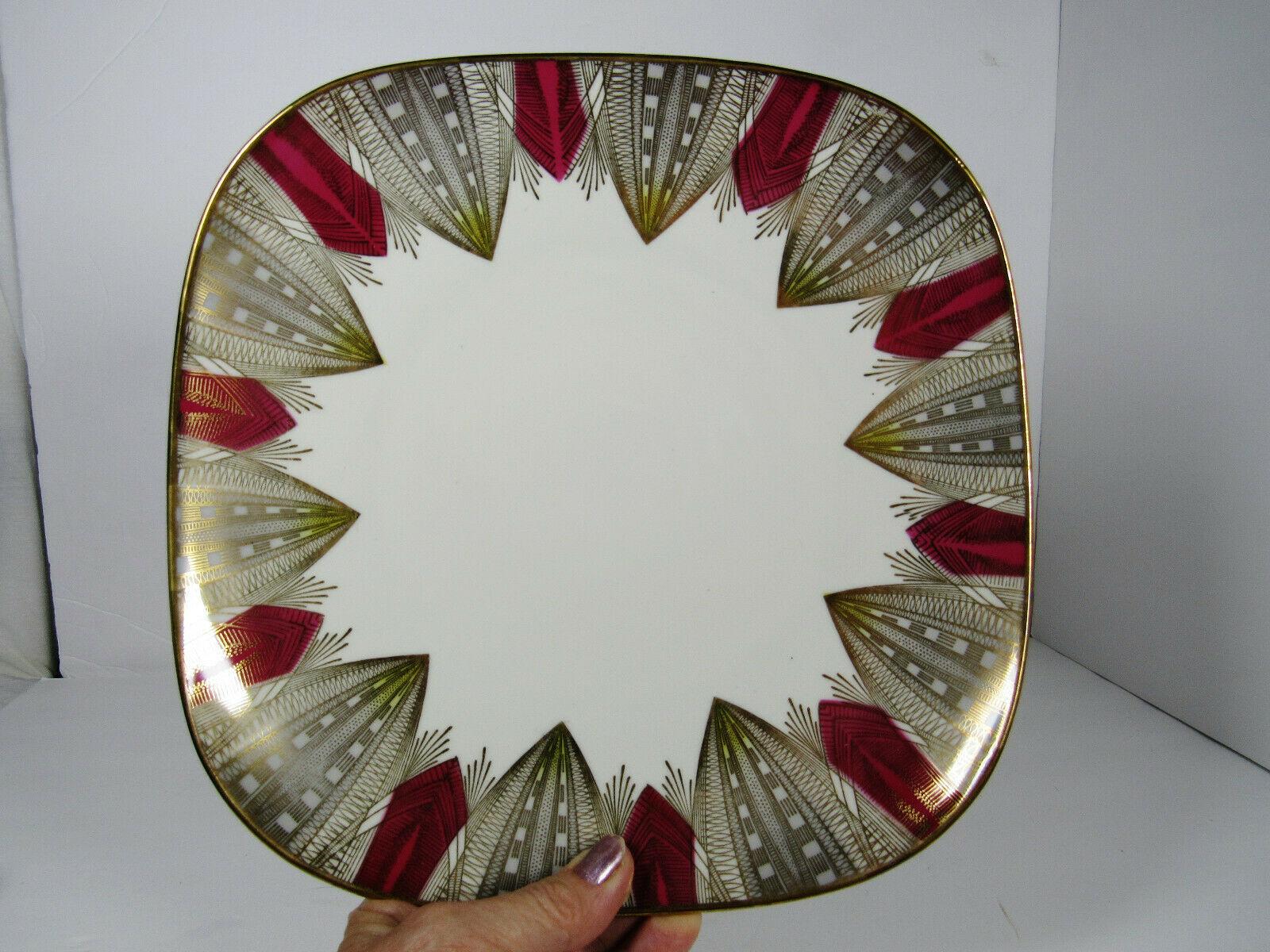 Bavaria Elfenbein Porzellan Square Round Corners Plate - $14.85
