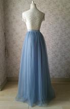 Full Tulle Maxi Skirt Plus Size Floor Long Tulle Skirt Wedding Guest Maxi Skirts image 15