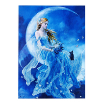 (01)Moon Goddess Cat Needlework Diy Diamond Painting Cross Stitch Square... - $20.00