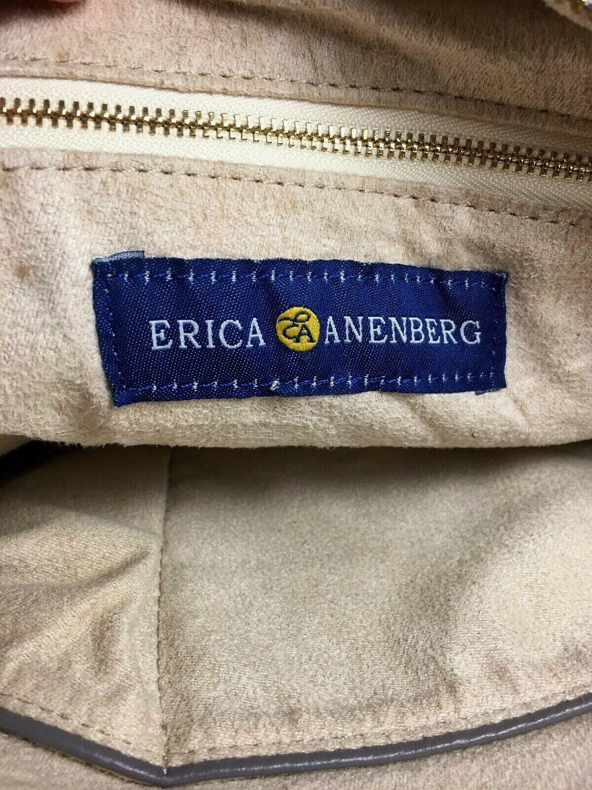 Erica Anenberg Grey Leather Cross Body Satchel Shoulder Bag image 12