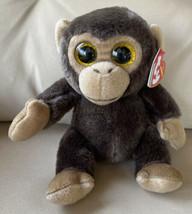 TY Beanie Baby BANANAS the Brown Monkey Amber Eyes (2015 version) (6 inc... - $9.99