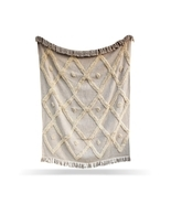 Beautiful Cotton Handmade Throw Blanket, Boho Chick Blanket, Decorative ... - £45.42 GBP
