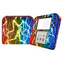 Lightning Design Video Game Vinyl Skin Decal for Nintendo 2DS System Con... - $8.26