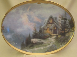 RAINBOW'S END COTTAGE collector plate THOMAS KINKADE Scenes of Serenity ... - $16.99