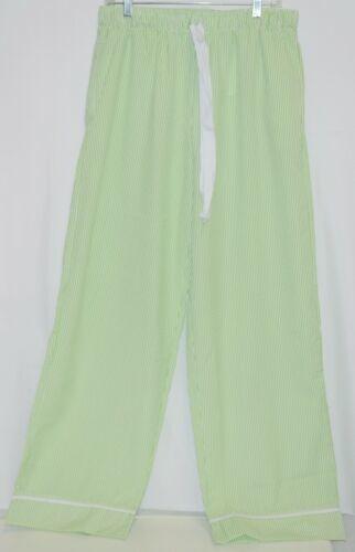 Ellie O Adult Seersucker Lounge Pants Size Large Color Green